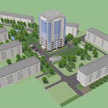 Проект многоквартирного жилого дома. Новосибирск
