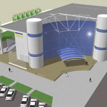 Проект торгово-развлекательного комплекса «Сатурн». Вариант 5. АПМ-Сайт. Новосибирск